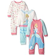 Disney Baby Coveralls Of Cinderella, Pink, 12 Months (Pack of 3)
