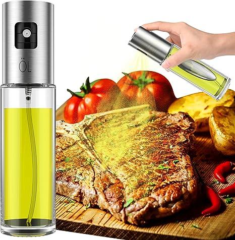 Oil Sprayer Spray Bottle for Oil Versatile Glass Spray Olive Oil Bottle for Cooking,Vinegar Bottle Glass,for Cooking,Baking,Roasting,Grilling Olive Oil Sprayer Bottle for Cooking