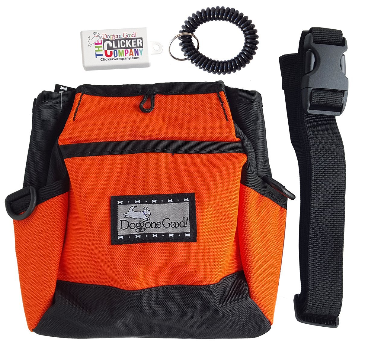 orange with belt, clicker, wrist coil orange with belt, clicker, wrist coil Rapid Rewards Deluxe Treat Pouch w FREE Belt, Clicker, and Wrist CoilBuy Directly From the Manufacturer
