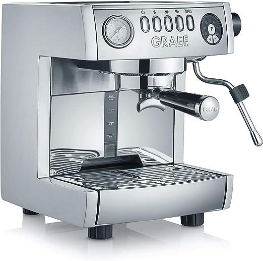 Graef ES 850 Máquina de café rápida y ahorra energía gracias al calentador Thermoblock simple con tubos de acero inoxidable, 1470 W, 2.5 litros, Aluminio, Plata: Amazon.es: Hogar