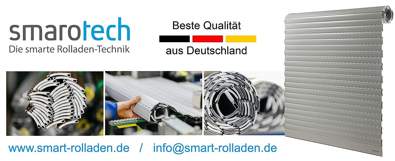 Rollladenpanzer ALU Mini weiß weiß weiß (37 x 8mm), Maßanfertigung nach Kundenwunschmaß  126cm Breite x 220cm Höhe - durch smarotech® Deutschland B07NWW7BM1 Fensterlden 251373