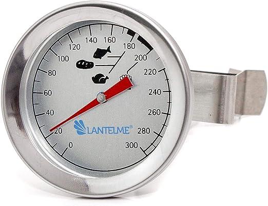 Compra Freidoras - aceite - grasa termómetro 300 ° c de acero inoxidable con soporte de clip. bimetálicas y analógico en Amazon.es