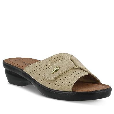 28e53ca80e7f Flexus Women s Kea Suede Slide Sandal Beige