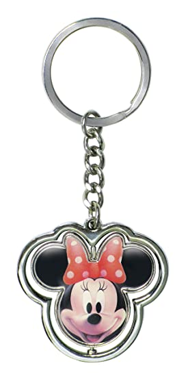 Minnie Mouse Jefe Spinning Pewter Llavero: Amazon.es ...