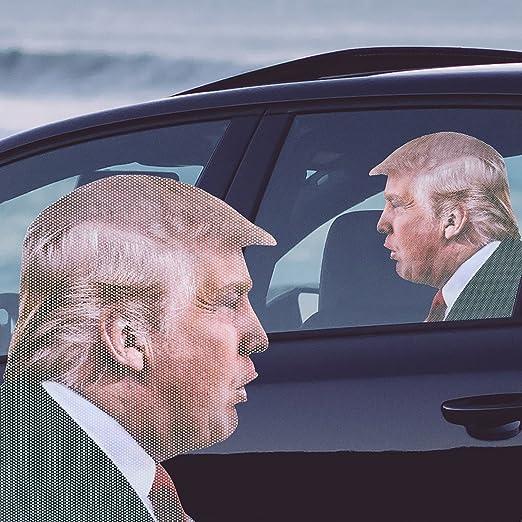 Ride With Donald Trump Fenstersticker 30 5 X 30 X 0 1 Cm Eine Thumbs Up Brand 1001730 Spielzeug