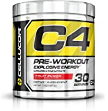 Cellucor - C4 Premium Pre Workout Powder with Creatine, Beta Alanine, and TeaCor for High Performance (195g) - Fruit Punch - 30 Servings