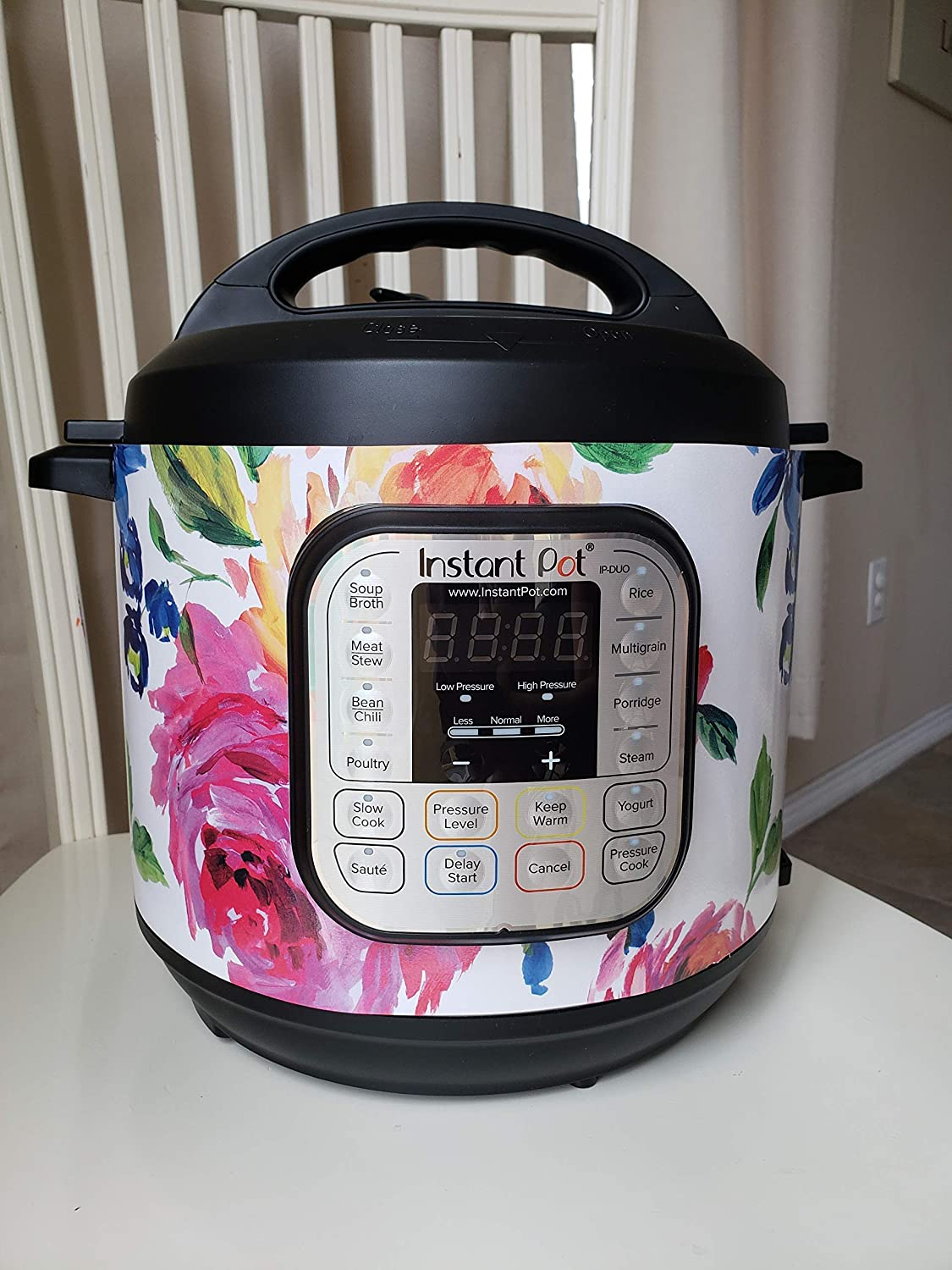 Instant Pot Wrap Cover, Bright Floral', Instant Pot decal, removable, Magnetic Wrap Bright Floral'