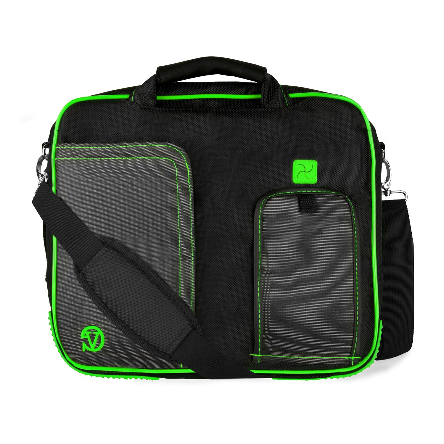 [Lime Green] Pindar Lightweight Shoulder Bag For Lenovo IdeaPad, ThinkPad, & Yoga 11 to 13.3-inch Laptops by Vangoddy