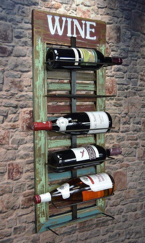 Livitat Wandregal Wein Weinregal Flaschenregal Shabby Chic Vintage Lv5012 Amazon De Kuche Haushalt