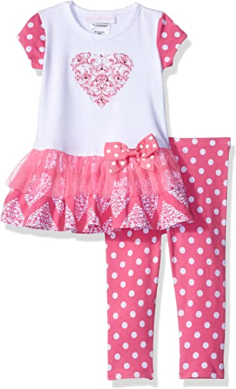 Leggings Pink Tiered legging Skirt Pants Baby Clothes Girls outfits 0//3,12,18mos