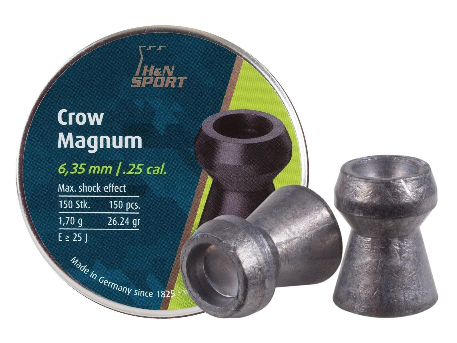 Haendler & Natermann H&N Crow Magnum .25 Cal, 26.23 Grains, Hollowpoint, 150ct