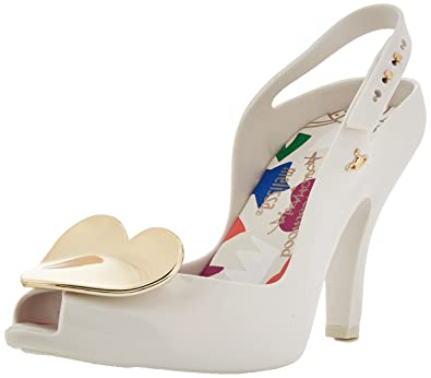 fee416e8e84 Melissa Vivienne Westwood Women s Lady Dragon 19 Heart Heel White-White-4