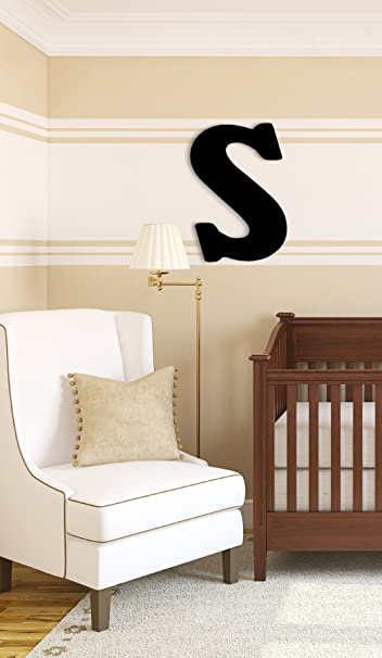 amazon com munch oversized black wood letters s nursery wall