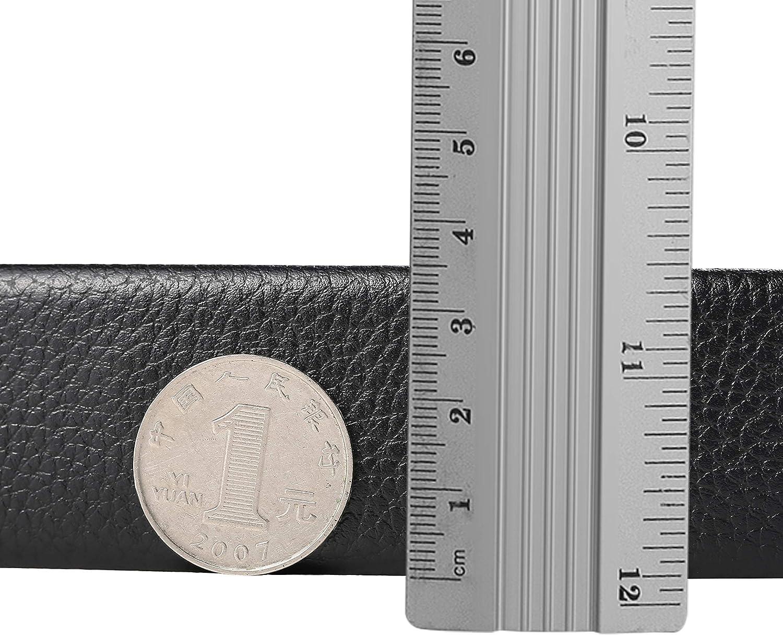 black Mens leather automatic buckle belt leather belt business casual belt laser alloy mens leather belt