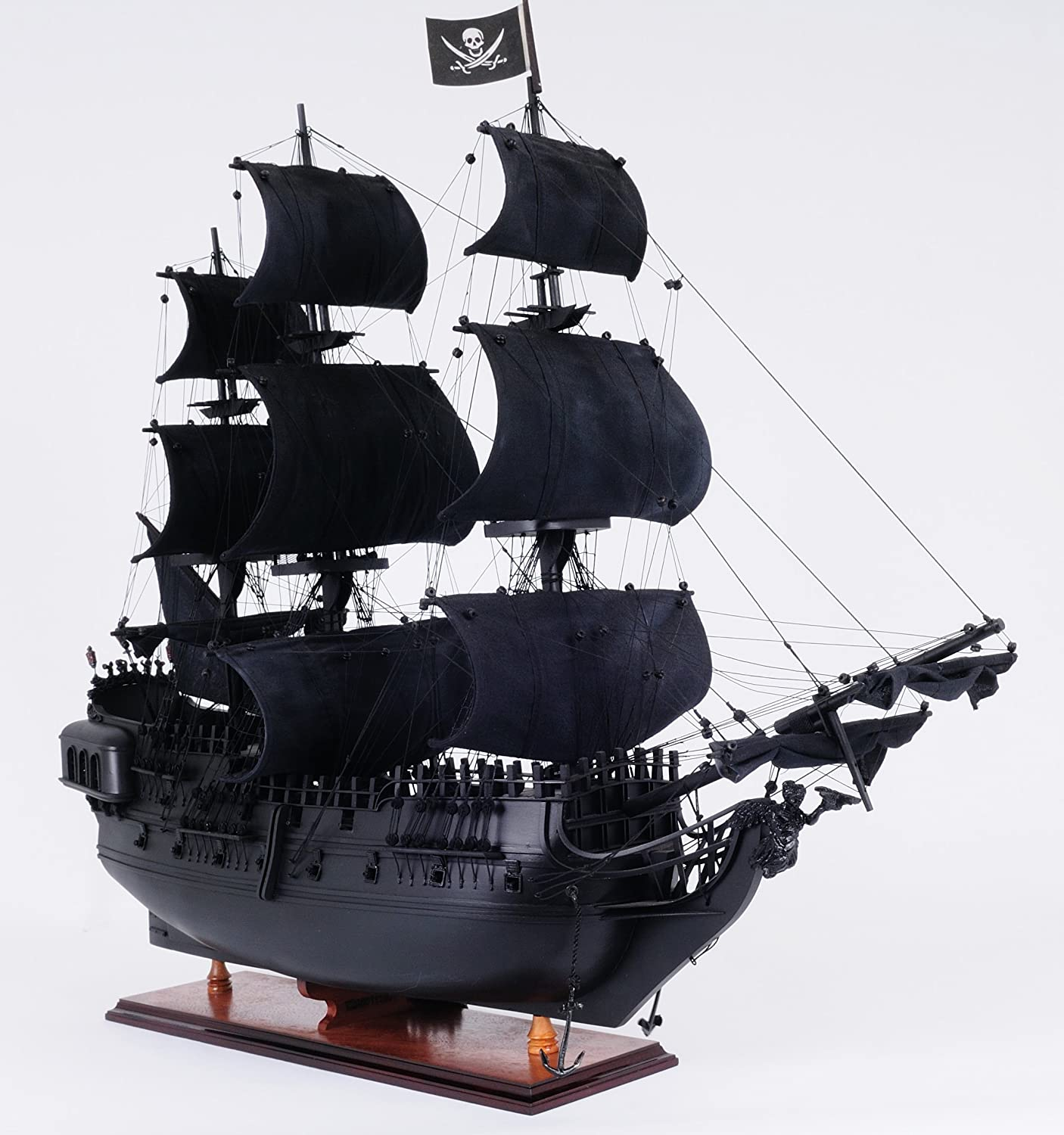 Amazon Old Modern Handicrafts Pearl Pirate Ship Collectible Black Home Kitchen