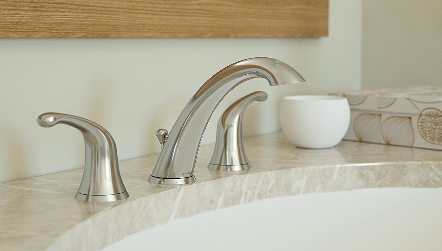 Symmons Unity Two-Handle 8-16 Inch Widespread Bathroom Faucet with Pop-Up Drain /& Lift Rod SLW-6612-1.5 Chrome