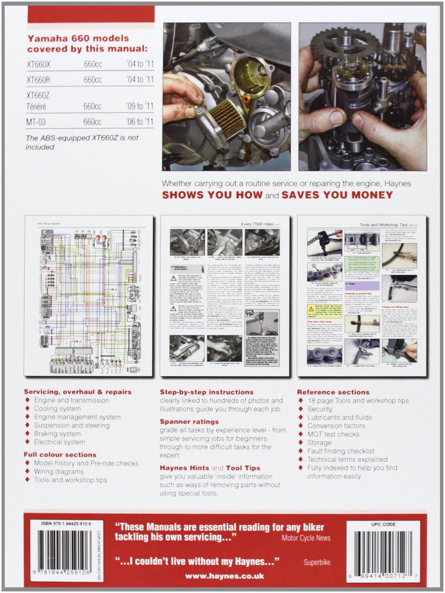 Yamaha Xt600 Mt 03 Service And Repair Manual 2004 To 2011 Xt 600 Tenere Wiring Diagram Matthew Coombs 9781844259106 Books