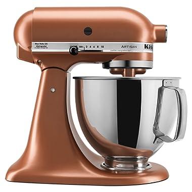 KitchenAid KSM150PSCE Artisan Stand Mixers, 5 quart, Copper Pearl