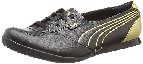 476c87b90e9c PUMA Biker 5000 M2 Gold Womens Leather Sneakers Shoes-Black-6 ...