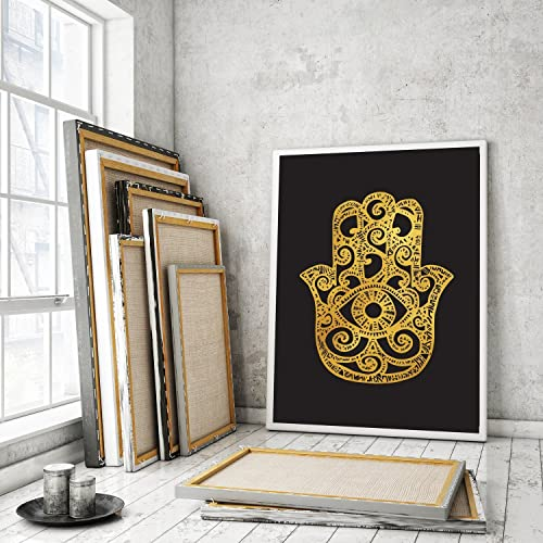 Hamsa Poster Hand Of Fatima Print Spiritual Art Zen Decor