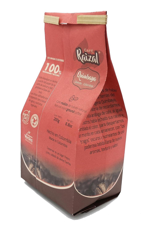 Café Raizal 250 gramos molido, tueste natural: Amazon.es: Alimentación y bebidas