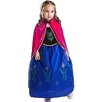 ELSA & ANNA® Princesa Disfraz Traje Parte Las Niñas Vestido (Girls Princess Fancy Dress) ES-DRESS208-SEP (3-4 Años, ES-208)
