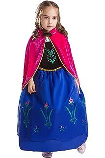 Bascolor Disfraz Anna Frozen Niñas con Capa Princesa Ana ...