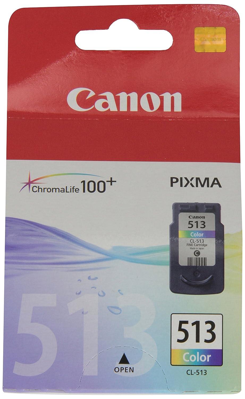 Canon CL-513 Cartucho de tinta original Tricolor para Impresora de Inyeccion de tinta Pixma MX320-MX330-MX340-MX350-MX360-MX410-MX420-MP230-MP240-MP25...