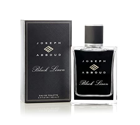 Joseph Abboud Black Linen – Cologne Fragrance Spray for Men – Grapefruit, Clary Sage and Haitian Vetiver – Daring and Intoxicating Scent – 3.4 oz 100 ml