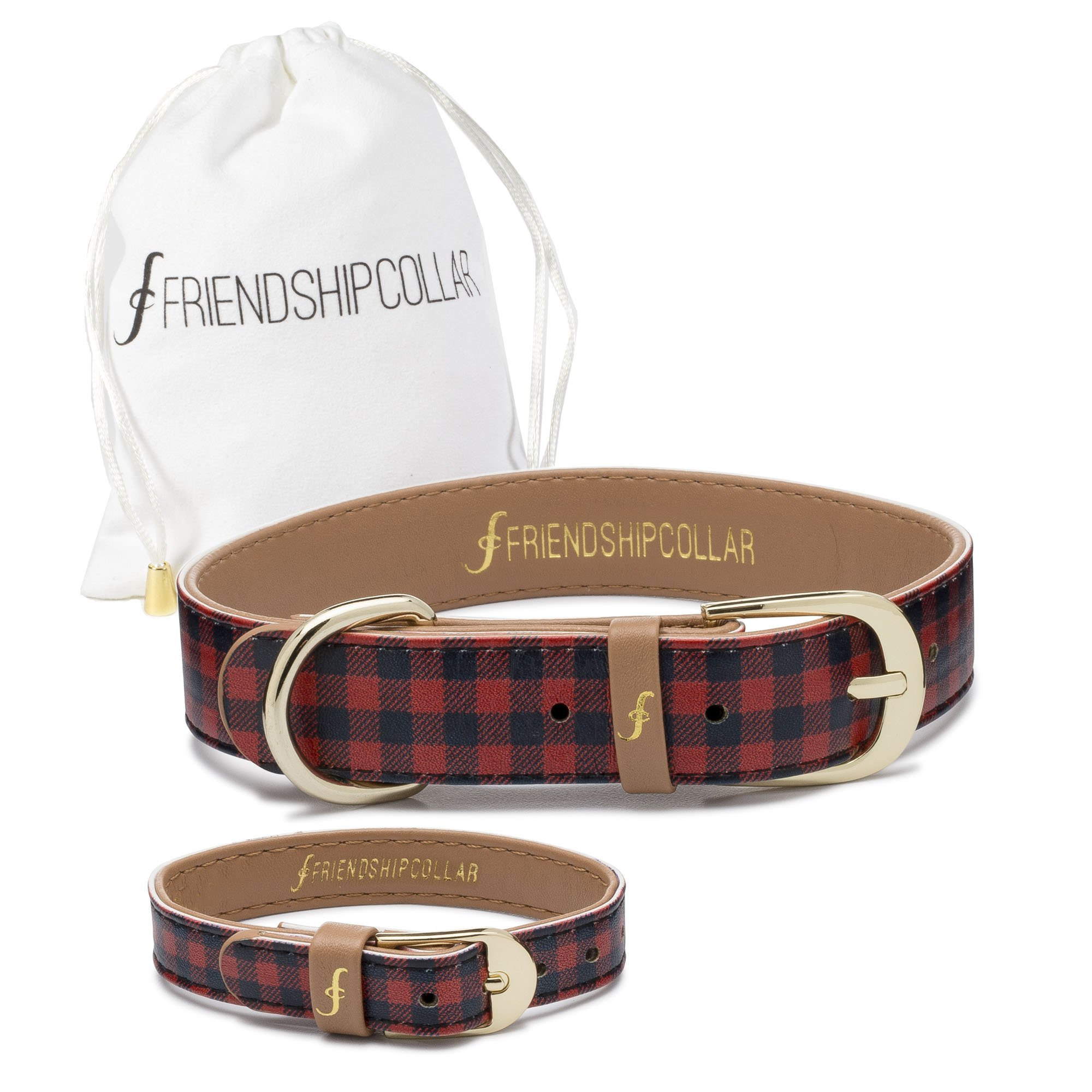 FriendshipCollar Dog Collar and Friendship Bracelet - The Hipster Pup - Large