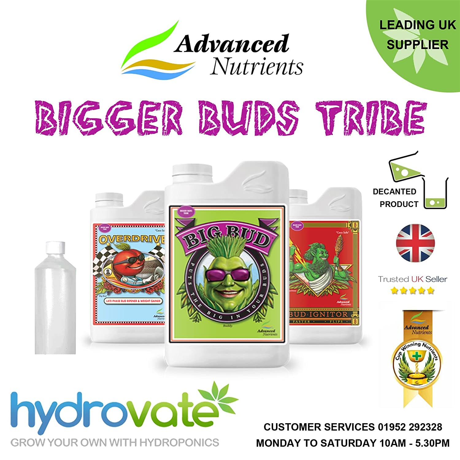 Bigger Buds Tribe Advanced Nährstoffe 500 ml Big Bud Bud Ignitor Overdrive Bloom Grow Grand Master