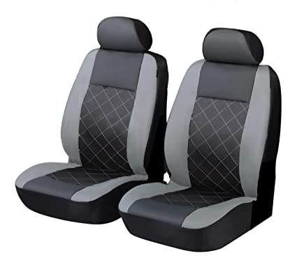 GREY Padded Leather Look Car Seat Covers Full Set Audi A6