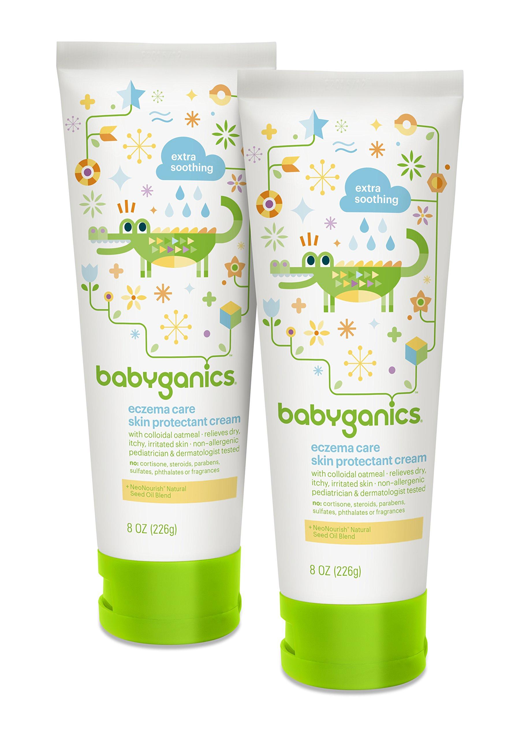 Babyganics Eczema Care Skin Protectant Cream, 8 oz Tube (Pack of 2)