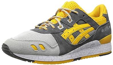 ba1a7dbcc60fe ASICS Men's Gel-Lyte III Retro Running Shoe, Grey/Gold Fusion, 11.5 ...