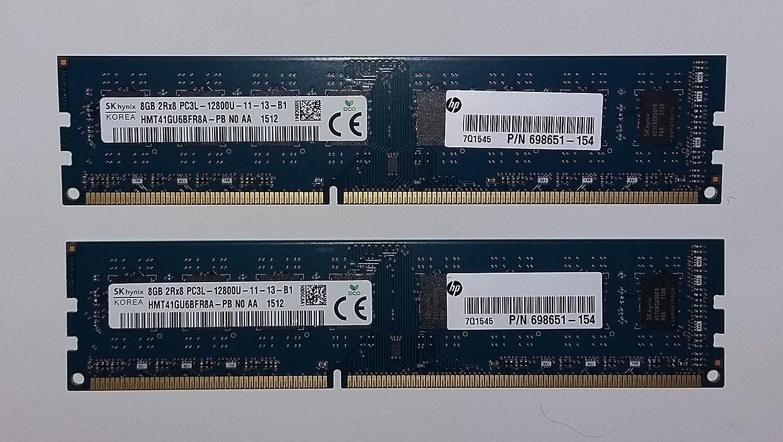 Hynix 8GB 2RX8 PC3L-12800R DDR3 pc3-1600MHz 1.35v 240Pin ECC REG Server Memory