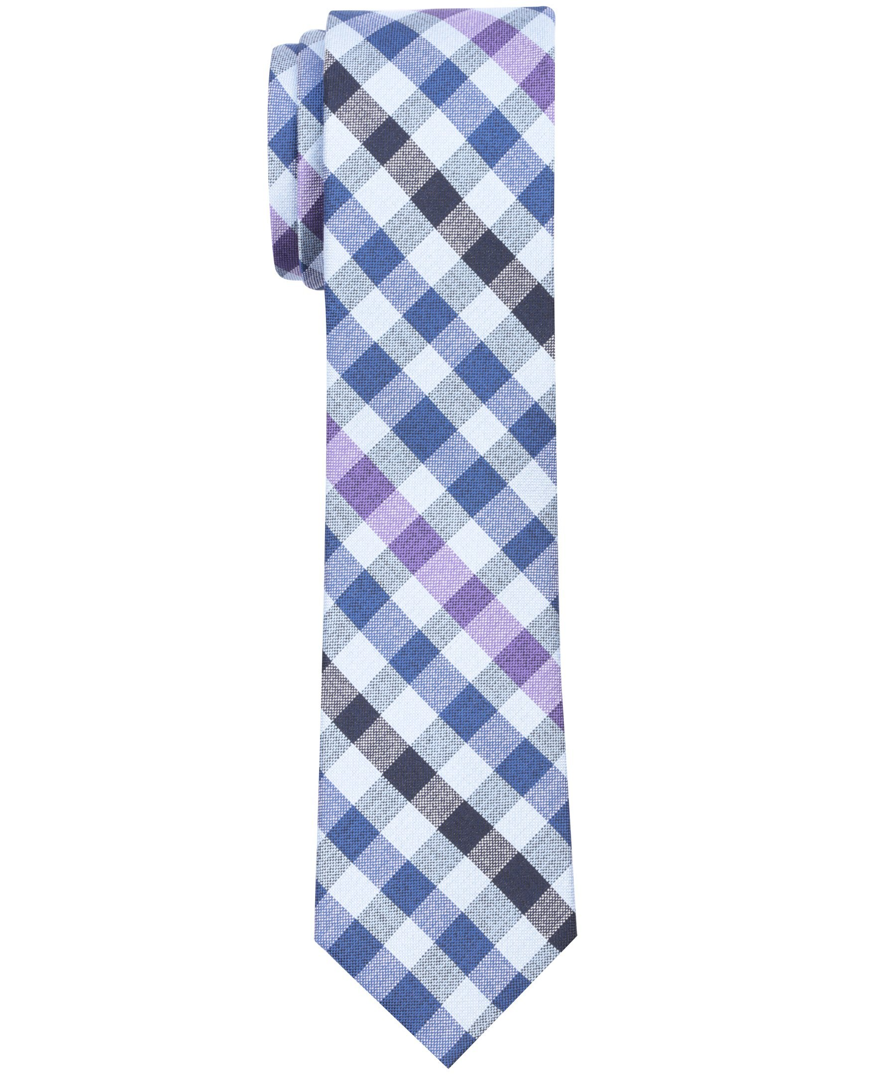 Haggar Men's Plaid and Check, Navy, One Size
