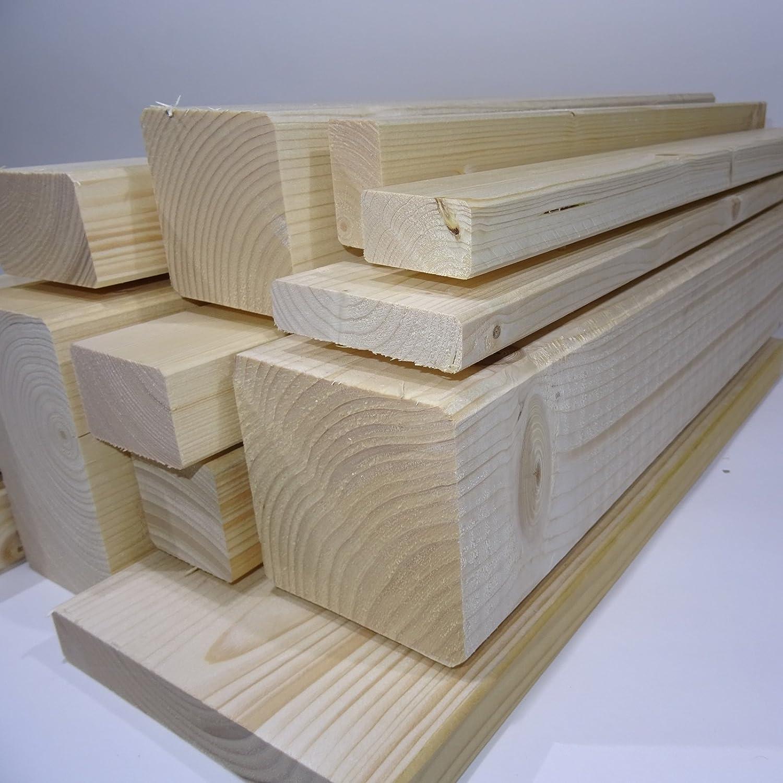 Ein Rahmenholz gehobelt unbehandelt Fichte Breite//H/öhe//L/änge 27mm x 144mm x 2000mm 7,49/€//Lfm Latten Kantholz Zaun Garten Holz Brett Balken Leiste Hochbeet
