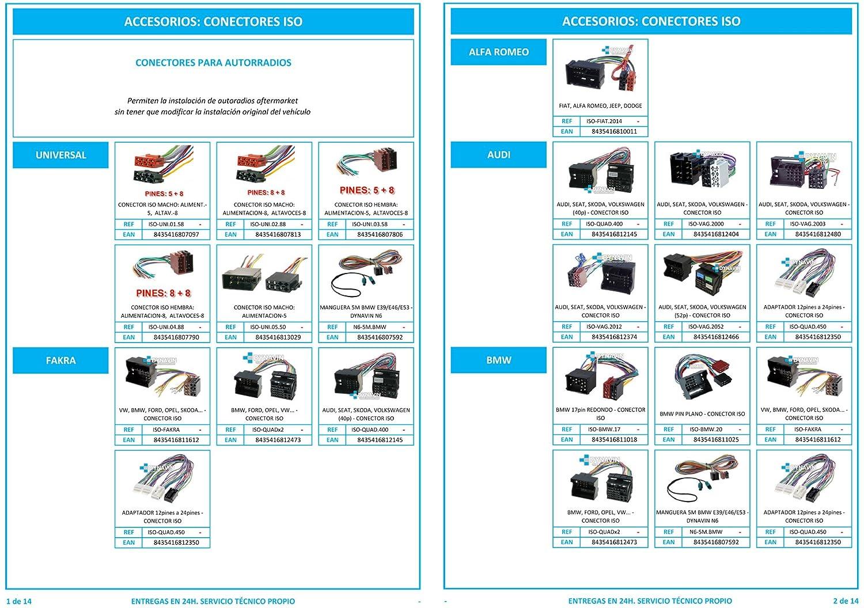 Conector iso universal para instalar radios en Mitsubishi. ISO-MIT.1996