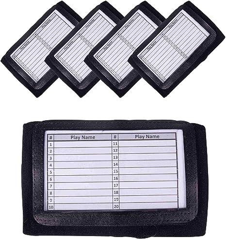 Black Unique Sports Triple-Window Playbook Wristband Adult Size
