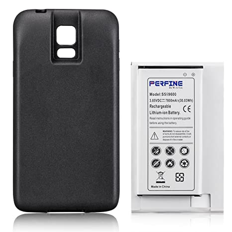 amazon com perfine samsung galaxy s5 7800mah extened battery rh amazon com Mobile Phone User Statistics Phone System