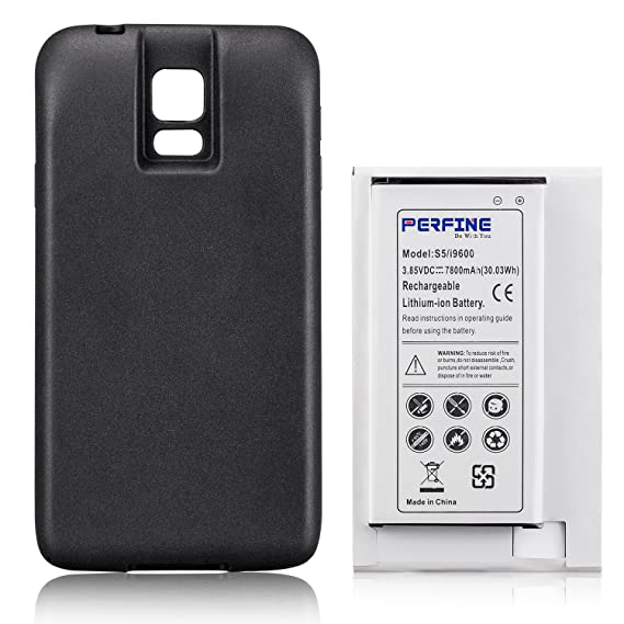 PERFINE Battery for Samsung Galaxy S5 Battery Extended Battery with NFC I9600, G900F, G900V (Verizon),G900T (T-Mobile), G900A (AT&T), G900P (Sprint), ...
