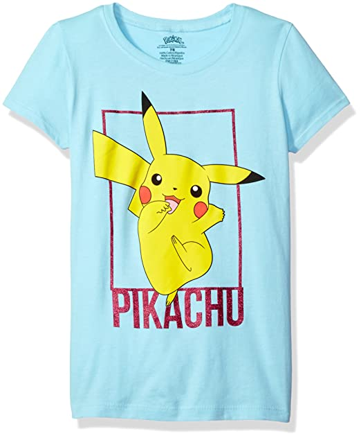 6f3e4a70 Amazon.com: Pokemon Girls' Pikachu The Princess Tee: Clothing