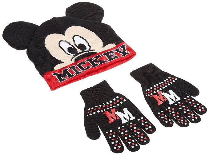 Disney Mickey Mouse - Gorro y guantes de invierno para niño 4f8b75f3818
