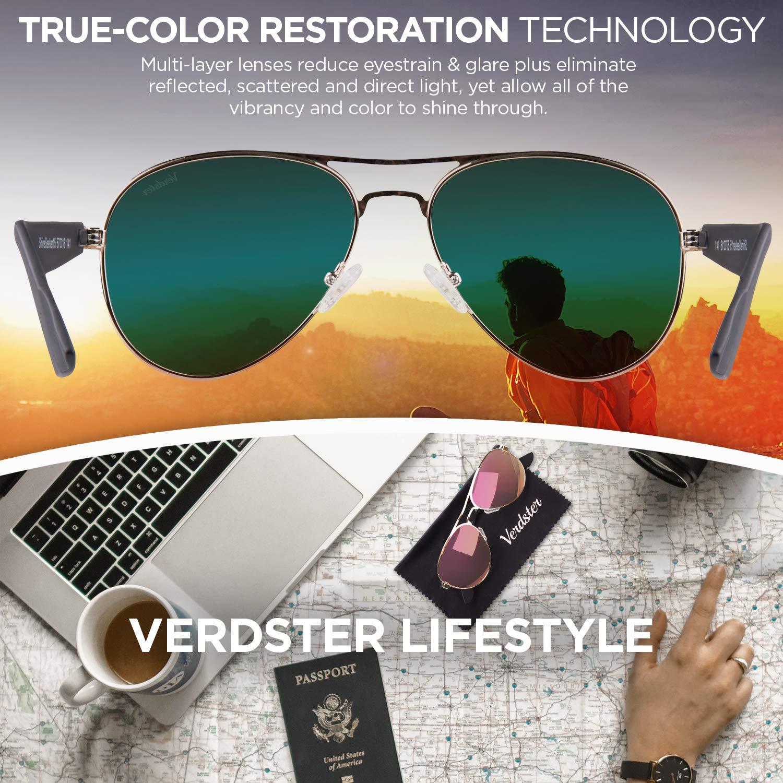 Frauen Pilotenbrille rosa-gold Verdster polarisierte /& verspiegelte Damen Pilotenbrille mit UV400 Schutz