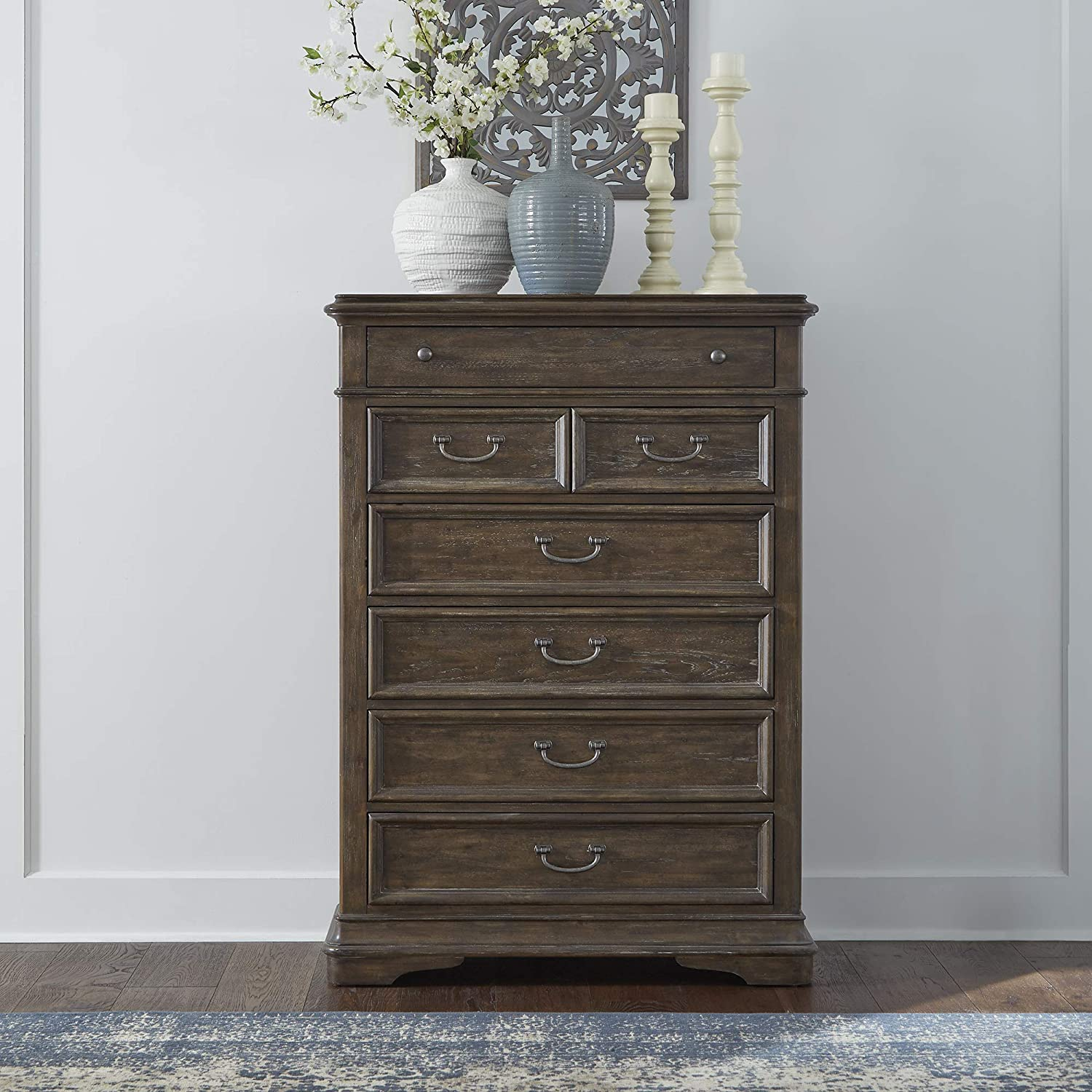 Liberty Furniture Industries Homestead 6 Drawer Chest, Brown