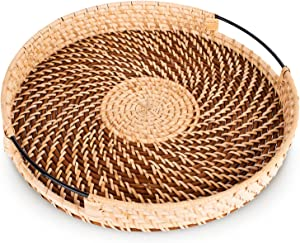 Round Serving Tray with Handles - 12