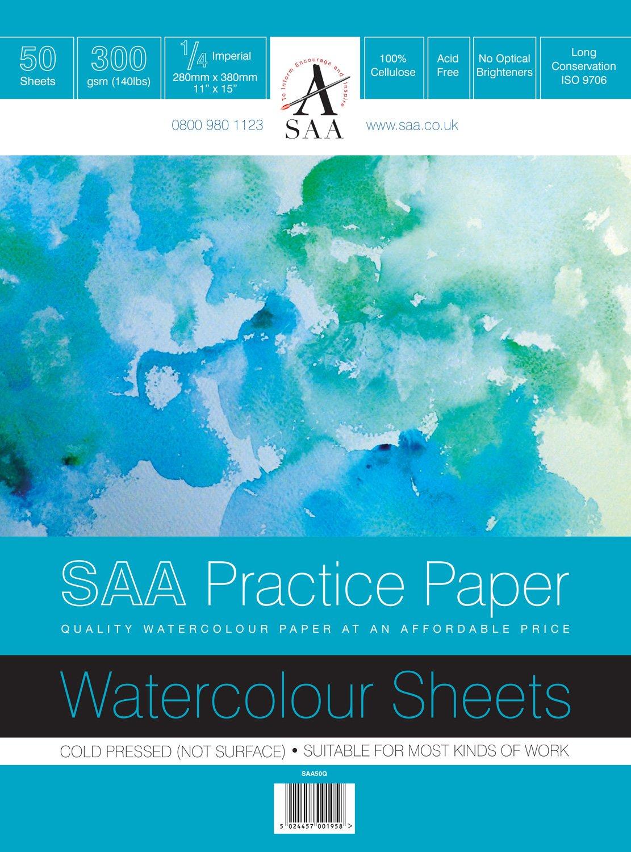 SAA Practice Paper 1/4 Imperial, NOT, 50 Sheets Tal Media Ltd T/a Artcoe