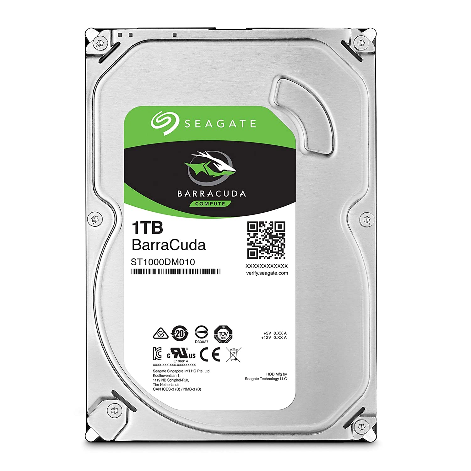 Seagate BarraCuda 1TB Internal Hard Drive HDD – 3.5 Inch SATA 6 Gb/s 7200 RPM 64MB Cache for Computer Desktop PC – Frustration Free Packaging (ST1000DM010)