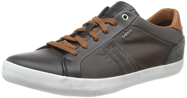 Geox U Box G, Zapatillas para Hombre 42 EU (Black/Dk Taupe C9b6w)