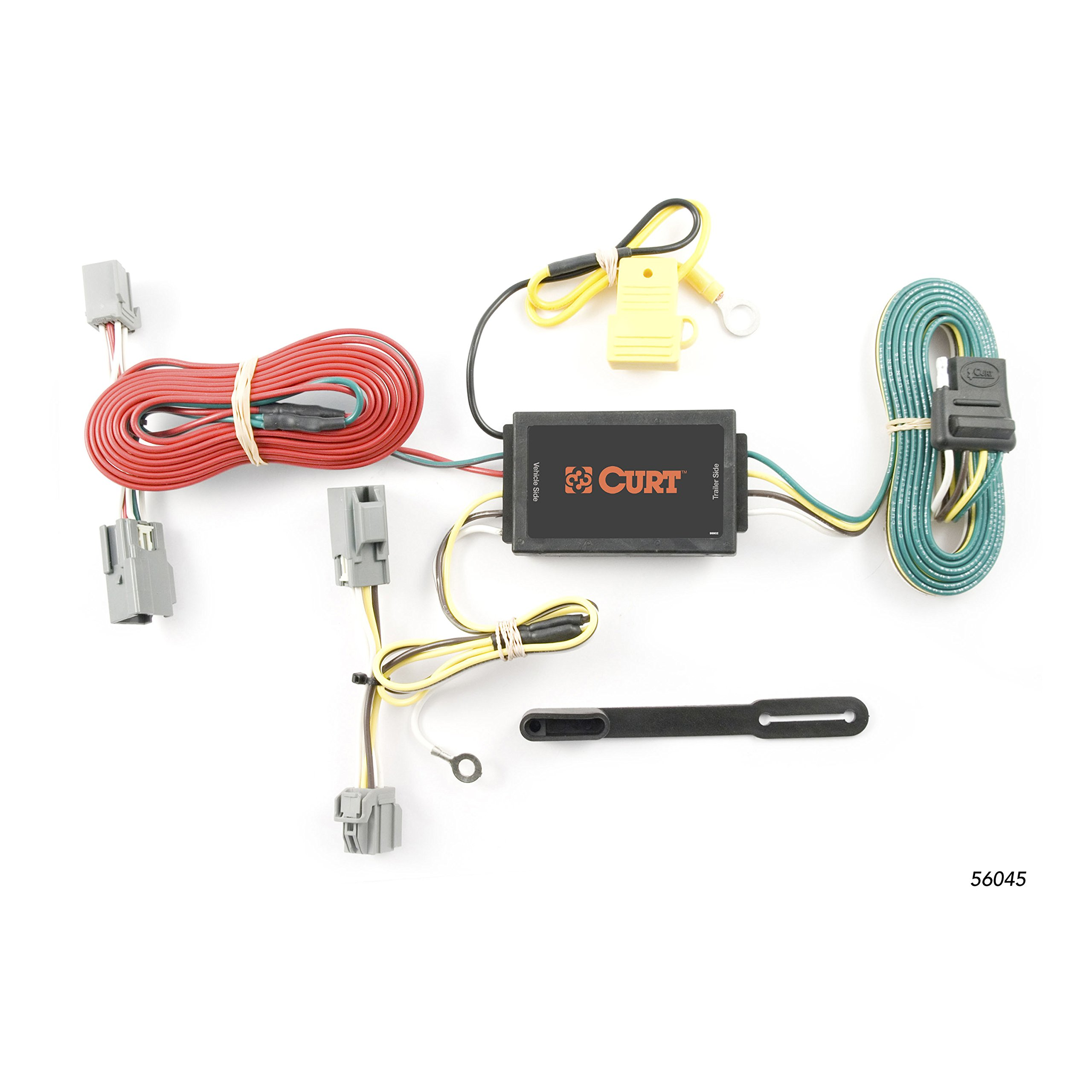 CURT 56045 Vehicle-Side Custom 4-Pin Trailer Wiring Harness for Select Volvo XC90 by Curt Manufacturing